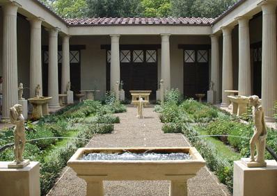 Tak wyglądały fontanny w Pompejach.